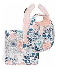 Powder Blue Meadow Burp Cloth & Bib Set by DwellStudio is perfect! #zulilyfinds