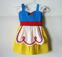 SNOW WHITE dress APRON dress for toddlers by loverdoversclothing, $38.99