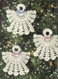 Free Christmas Angel Ornaments Crochet Pattern --- I've been making these for YEARS (PWittstruck) got it from a book and here it is!
