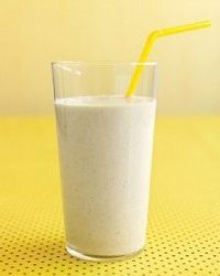 """""""Banana-Oat Smoothie"""" by Martha Stewart #Ingredients 1/4 cup old-fashioned rolled oats 1/2 cup plain low-fat yogurt 1 banana, cut into thirds 1/2 cup fat-free milk 2 teaspoons honey 1/4 teaspoon ground cinnamon #Directions In a blender, combine oa..."""
