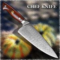 Chef Knife Kitchen Home Cooking Tool Wooded Handle $279.50