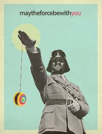 may the force be with you by Cristina Prat Mases, via Behance