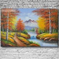Autumn Landscape Oil Painting Hand Painted On Canvas
