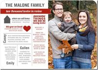 great idea for a Christmas card with family update
