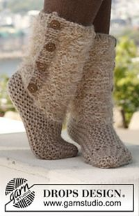 Free Pattern: 142-25 Moscow - Slippers in 2 strands