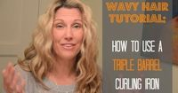Wavy Hair Tutorial: How to Use a Triple Barrel Curling Iron.