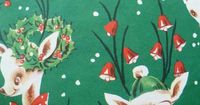 1 Sheet Vintage Christmas Wrapping Paper