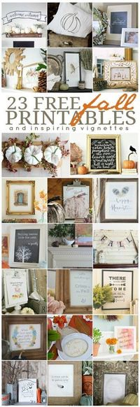 23 Free Fall Printables from some truly amazing design bloggers!