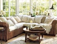 Love this for the sunroom. Clean, crisp, and fresh.