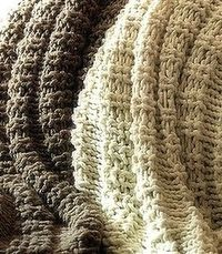 Copycat Pottery Barn Wesley Throws Knitted Pattern..