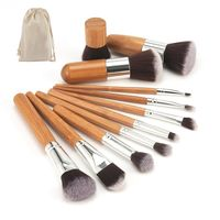 �Ÿ˜�2020 New Makeup Tool Natural Bamboo Professional Makeup Brushes Set Powder Foundation Eyeshadow Blending Brush Make up Tool Kit�Ÿ˜� $1.95