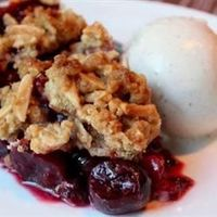 Cherry Pie with Almond Crumb Topping Allrecipes.com -This delicious and super easy cherry pie features a crunchy, streusel-like topping
