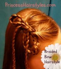 Braided Bow Hairstyle Tutorial