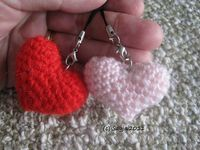 "Free heart crochet pattern for Valentine by Sayjai Thawornsupacharoen. Hang from your purse, hang from your cell phone...hang from your neck! ¯ (�ƒ"") /¯"