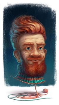 portrait of his grandfather by Anton Boyko, via Behance