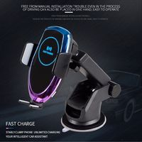 Bakeey 15W Qi Wireless Charger Infrared Induction Clamp Dashoboard Air Vent Car Phone Holder For 4.0-6.5 Inch Smart Phone