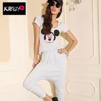 Diffuse element pattern Cotton Tee+ with Mickey Mouse hanging crotch pants - Bonny YZOZO Boutique Store