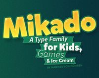 Mikado (Type Family) by HVD Fonts, via Behance