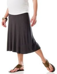 Secret Fit Belly Midcalf Length Relaxed Fit Maternity Skirt