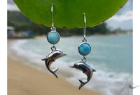 Dolphin Dot Earrings (LAR-HE-1)