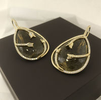 Tourmaline and diamonds earrings set in 18 karat yellow gold all hand cut tourmaline and hand made earrings < #jewelry #oneofkind #specialorder #customize #honest #integrity #diamond #gold #rings #weddingband #anniversary #finejewelry #salknight