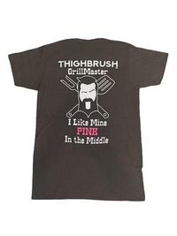 "THIGHBRUSH® GrillMaster - ""I Like Mine PINK in the Middle�€ - Men's T-Shirt - Heather Charcoal"