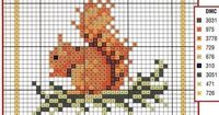 Obsessive Craft: squirrel, cute, animal, sincap cross stitch, xstitch, point de croix, punto cruz, diy, handmade, çarpı i�Ÿi, etamin, needlework