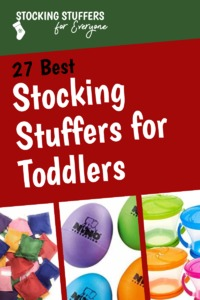 Toddlers are hard to buy stocking stuffers for, because many of the standard stocking stuffer options are choking hazards. There are lots of options here, though! #christmas