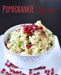 pine nuts, pomegranates and quinoa.