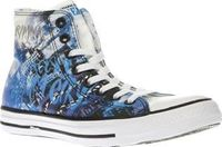 Converse Black And Blue All Star Gotham City Now you can join the bad girls of Gotham City as the Converse All Star Sirens Hi arrives. This black and blue fabric hi-top features a graphic print of DC Comics Catwoman, Poison Ivy and Harley Quinn, http://ww...