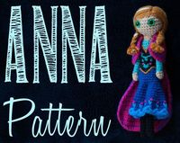 Anna from Frozen - Crochet Pattern. #Frozen #Animated #Disney #Movie #Film #Doll #Crochet #Pattern #Amigurumi