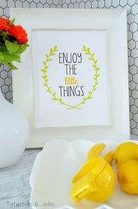 Three FREE Enjoy the Little Things Printables at Tatertots and Jello #DIY #Printables