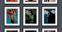 Superheroes Vintage Art Posters. I'm not huge into Superman, but, man, I love that picture of him.