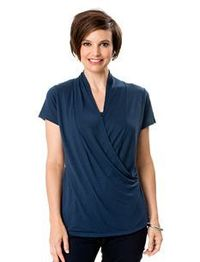 Pretty: Short Sleeve Pull Down Nursing Tank