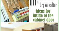 Kitchen Organization: Ideas for storage on the inside of the kitchen cabinets