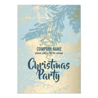 Modern Blue Pine Christmas Office Party Invitation