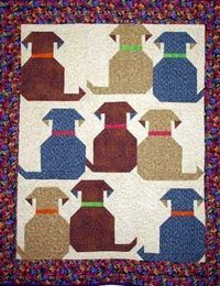 Waggly Tails normally I don't like 'pet' quilts by this one is cute