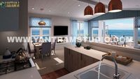 Amazing 3d interior design of kitchen living room by Architectural Visualisation Studio, Indianapolis- Indiana