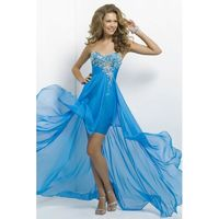 Charming A-line Sweetheart Crystal Detailing Floor-length Satin&Chiffon Prom Dresses - Dressesular.com