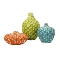 This set of 3 ceramic vase are a beautiful way to help your flowers stand out. -Matthew Mead,