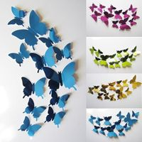 Wall Stickers Decal Butterflies 3D Mirror Wall Art Home Decors $2.36