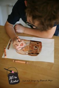 using magazines for kids' art projects w/options for different ages + stages