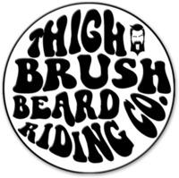 THIGHBRUSH® BEARD RIDING COMPANY - Enamel Lapel Pin - Black and White