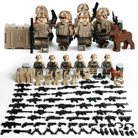 US Marines Anti Terrorist Team Minifigures 6-Pack with Dog & Weapons $22.90