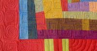 "Great way to showcase colors and values...and machine quilting. This is on my ""bucket list"" for quilts to make"