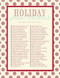 Photo Checklist For Christmas. #pinspiration