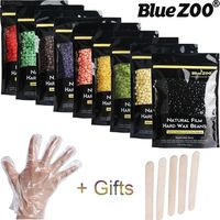 BlueZOO 10 Flavors 250g/bag Depilatory Wax Hair Removal Wax Beans Hard Wax Body Waxing No Strips for Epilation with 5*Wooden S $26.00