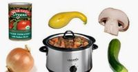 Even though it's mid summer & we don't have air conditioning, I can't seem to put my crock pot away. It's the easiest way for me to get dinner made with my 2 wi