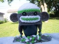 Sock Monkey Hat ~ LINK CORRECT and pattern is FREE when I checked on 04/03/2015.