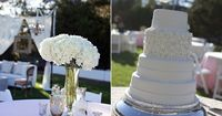 My friend Caitlyn's gorgeous wedding and the wedding cake I did for her in Rosemary Beach, Fl.